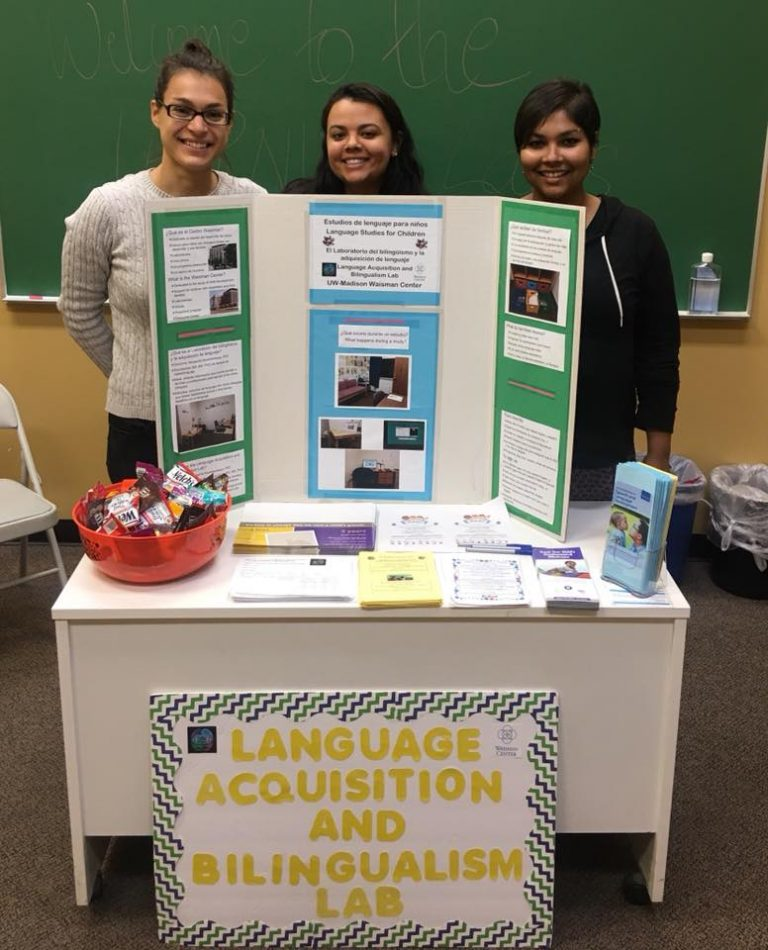 LAB team members hosting an information booth.
